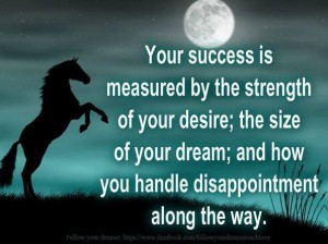 your-success-is-measured-by-the-strength-of-your-desire-the-size-of-your-dream-and-how-you-handle-disappointment-along-the-way